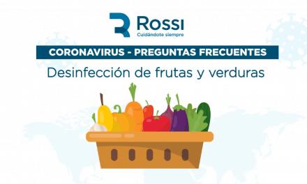 CORONAVIRUS – Desinfección de Frutas y Verduras.