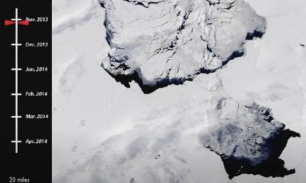 VIGILAN UN ENORME ICEBERG DESPRENDIDO DE LA ANTÁRTIDA