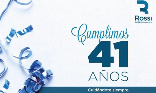CENTROROSSI 41 AÑOS ACOMPAÑÁNDOTE EN EL CUIDADO DE TU SALUD